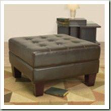 Overstock $215 (30x30- 18) Leather Tuffed Ottoman Dark Brown