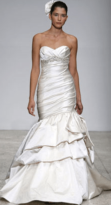 The gown Bethenny Frankel wore on her wedding day Amsale's Kenneth Poole