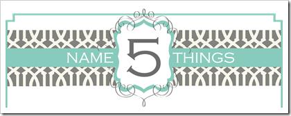 Header- Name 5 Things
