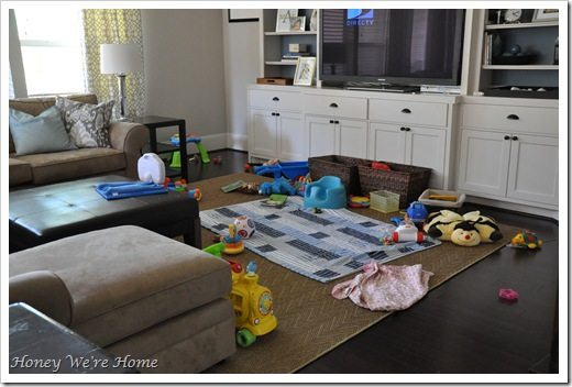 baby play area in living room where are all the toys honey we re home 25263