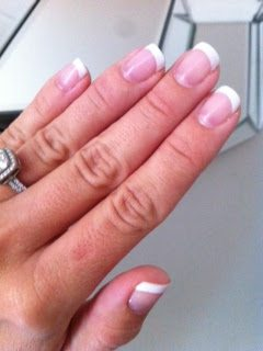 Shellac French Manicure | Honey We're Home