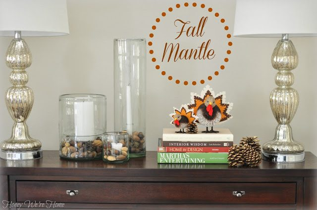 Our Fall Mantle 2012 Honey We Re Home