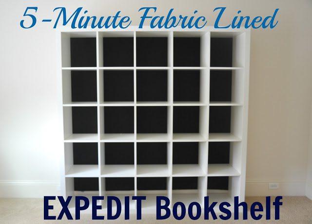 Fabric Lined Expedit Bookshelf | Honey We're Home