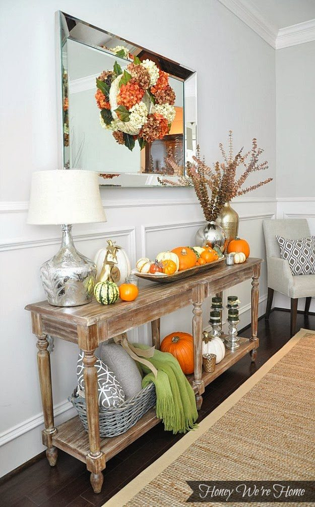 Rustic Glam Fall Mantle Honey We Re Home