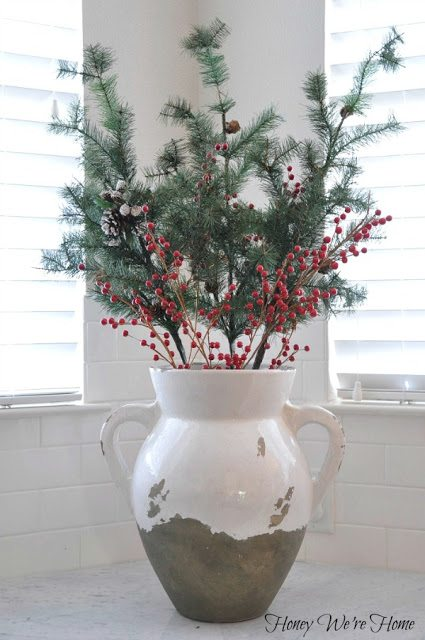 Christmas decor in the kitchen honey we 39 re home for Home goods christmas decorations 2013
