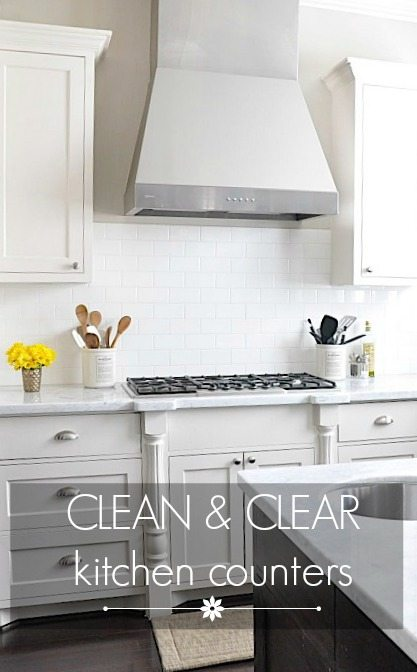 Clean & Clear Kitchen Counters   Honey We\'re Home
