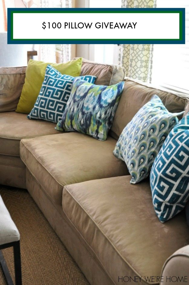 The Cool Patterned Pillows (except For The Greek Key  From HomeGoods) Are  From Festive Home Decor. She Has TONS Of Options To Choose From And Her  Site Is ...