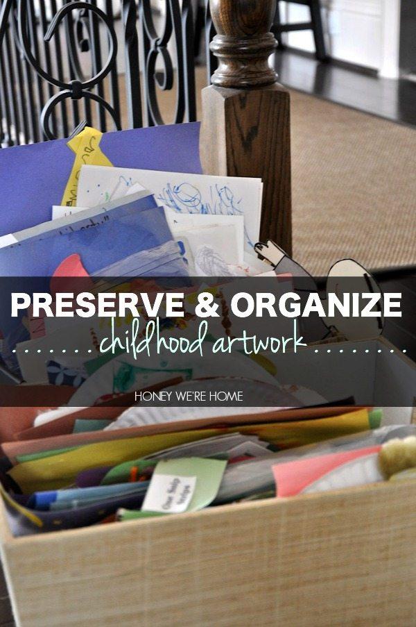 Organizing Storing Kids Schoolwork Art Honey We 39 Re Home