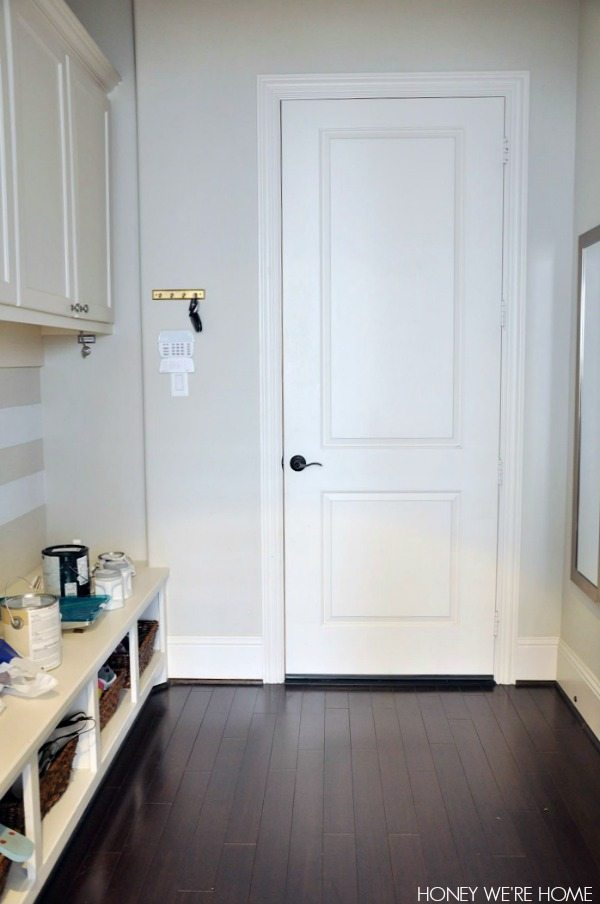 Painted Mudroom Door Sherwin Williams Comfort Gray Honey We Re