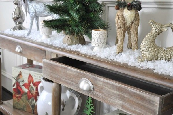 console table christmas decorations image collections - Christmas Decorations For Sofa Table