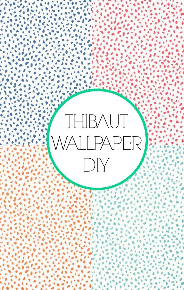 Here's a close-up of the pattern. - Painted Closet Walls DIY Thibaut Tanzania Wallpaper Honey We