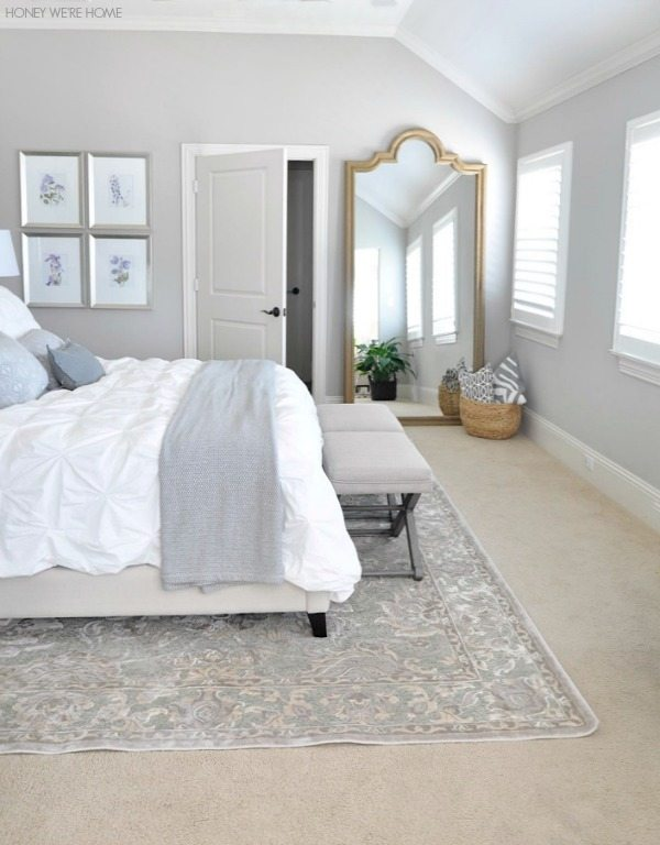 Master Bedroom Rugs neutral master bedroom refresh | honey we're home