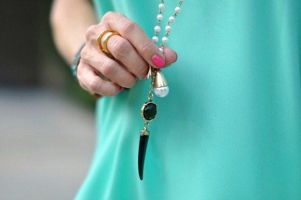 Weekend Steals & Deals   Beaded Horn Pendant Necklace