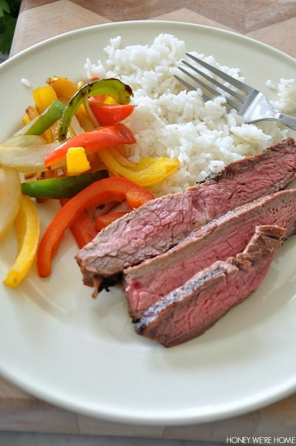 NPC Bikini Contest Prep - Flank Steak with Sautéed Peppers