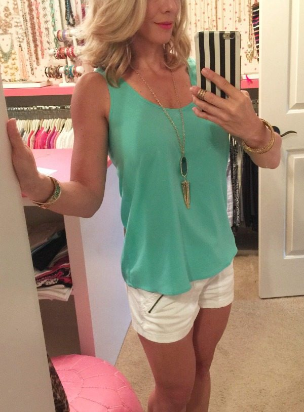 Weekend Steals & Deals   Frenchi Swing Tank- military shorts