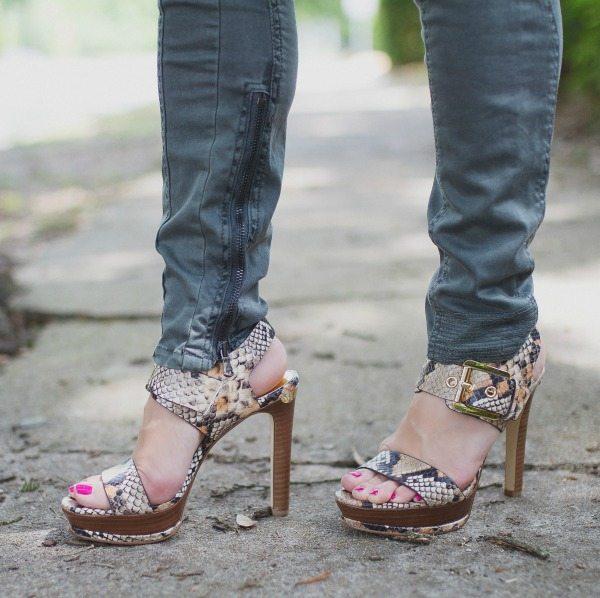 Weekend Steals & Deals | Summer Fashion Outfits - Michael Kors Snakeskin Heels