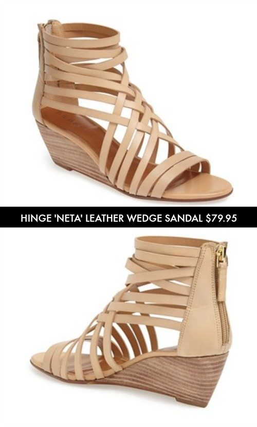 Summer Sandals - Hinge 'Neta' Leather Wedge Sandal