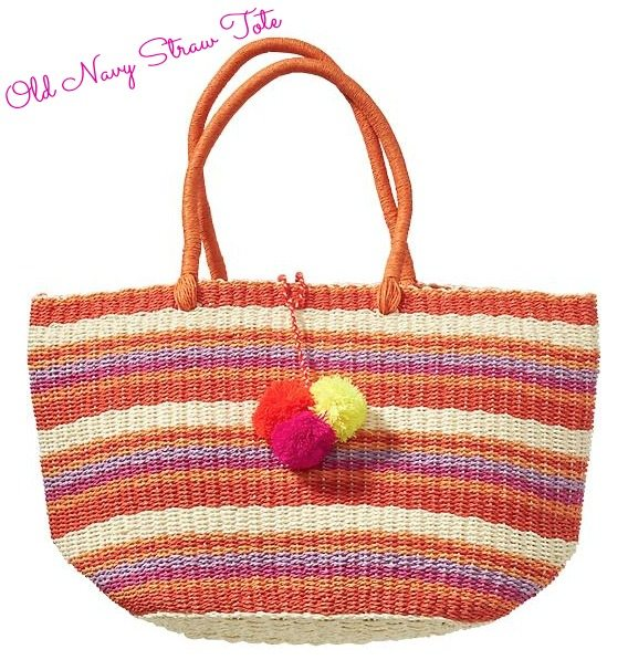 Weekend Steals & Deals   Summer Fashion Outfits - Colorful striped straw tote