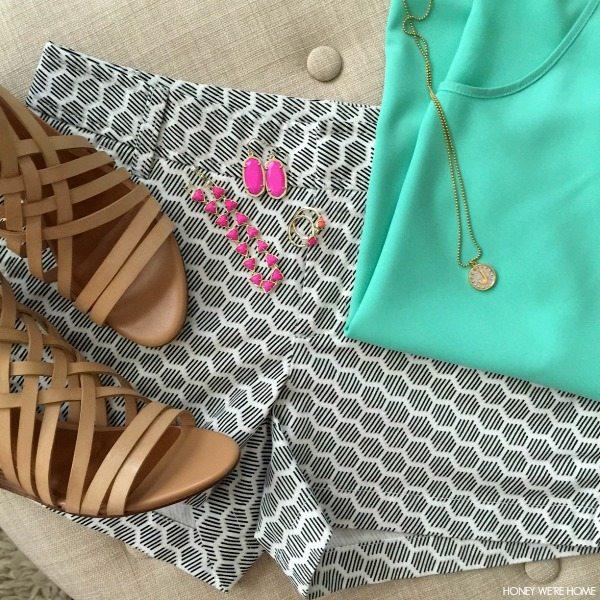 Summer Uniform - shorts, tank, sandals