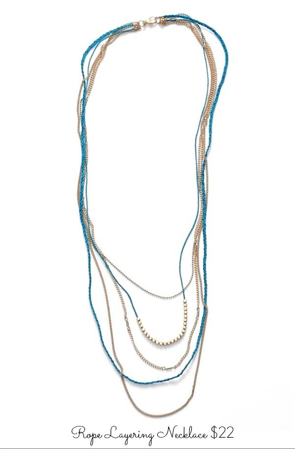 Rope Layering Necklace $22