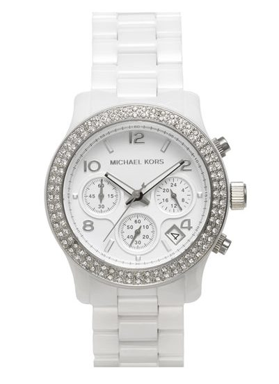 Weekend Steals & Deals | white chunky watch Michael Kors | Spring/Summer Fashion