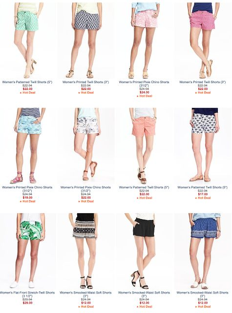Old Navy bright, colorful shorts