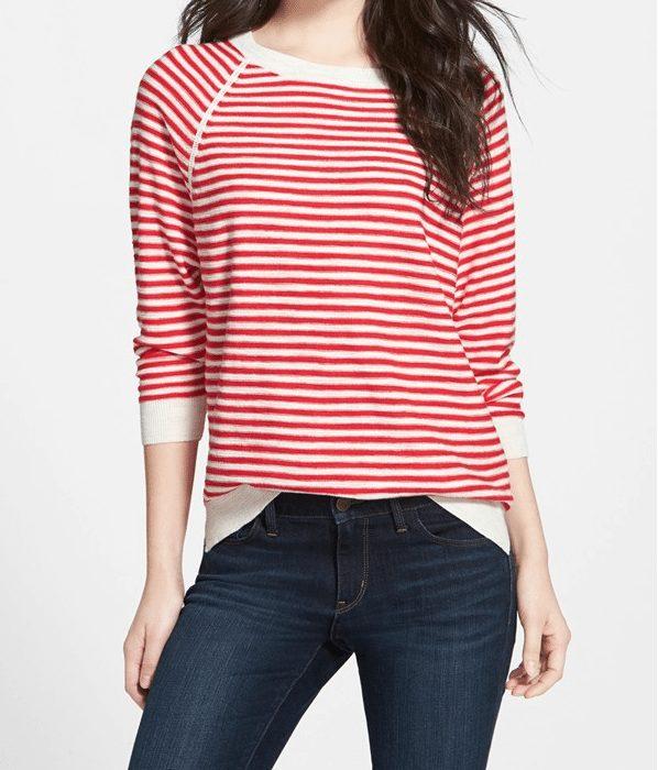 Weekend Steals & Deals   Stripe Raglan Sweater
