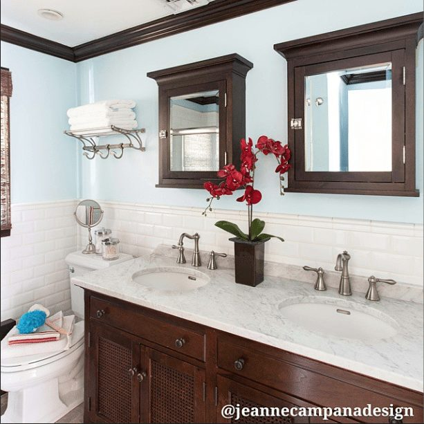 Gorgeous Real Life Bathrooms | Jeanne Campana Design