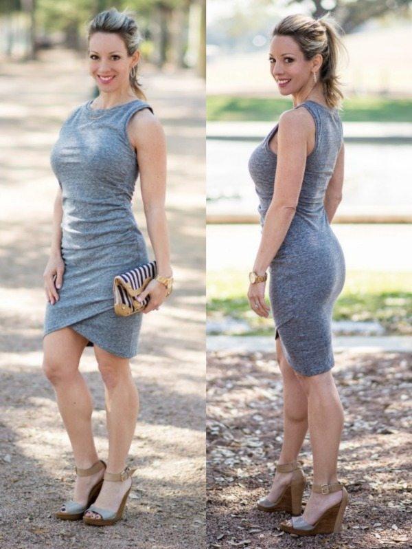 Tildon Ruched Body Con Dress