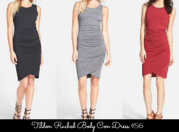 Tildon Ruched Body Con Dress