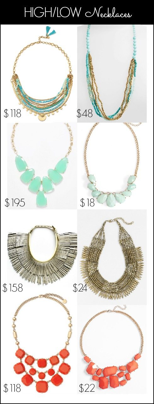 Summer Accessories - HIGH/LOW Necklaces