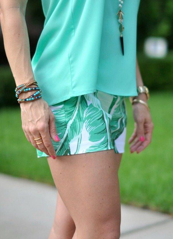 Weekend Steals & Deals   Palm Leaf Shorts & Beaded Wrap Bracelets