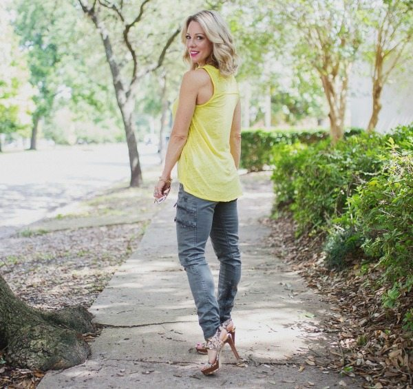 Weekend Steals & Deals   Summer Fashion Outfits - military pants + tank