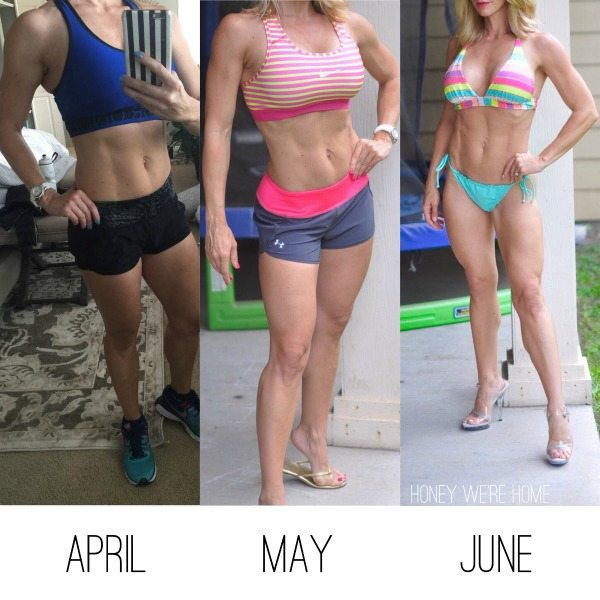 Bikini Contest Prep - 3 months progression | Honey We're Home