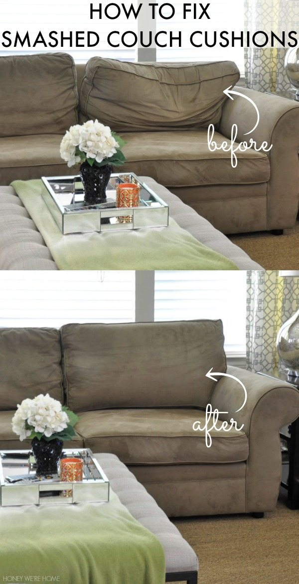 How To Fix Smashed Couch Cushions Honey We Re Home