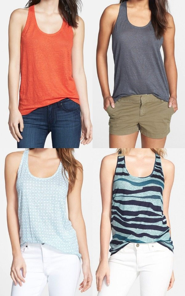 Summer Fashion - Halogen Linen Tank