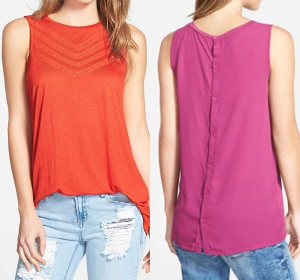 Summer Fashion - Halogen Lace Trim Sleeveless Top