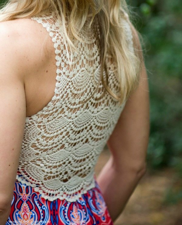 Summer Fashion | Crochet Back Maxi