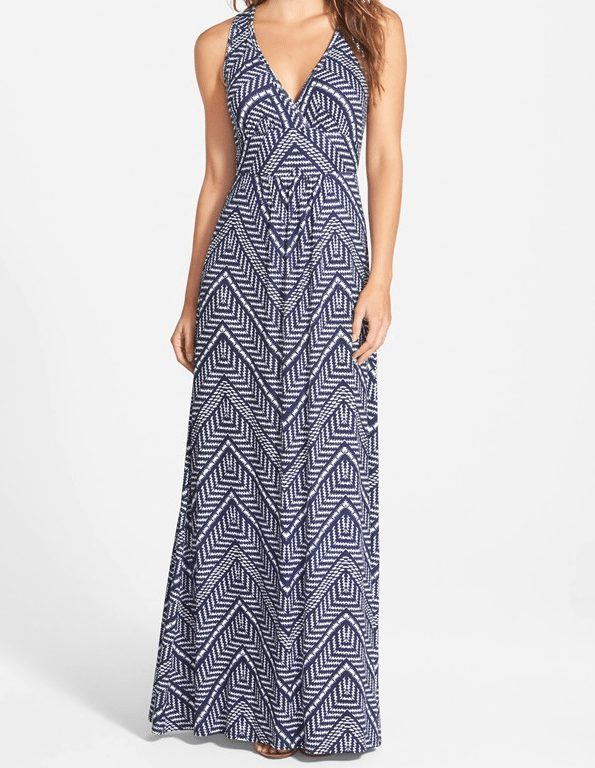 Loveappella V-Neck Maxi Dress $68 (regular & petite)