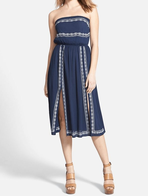 ASTR Embroidered Strapless Dress $38.40