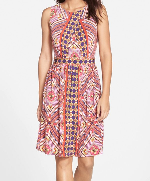 Gabby Skye Graphic Print Dress $58.80