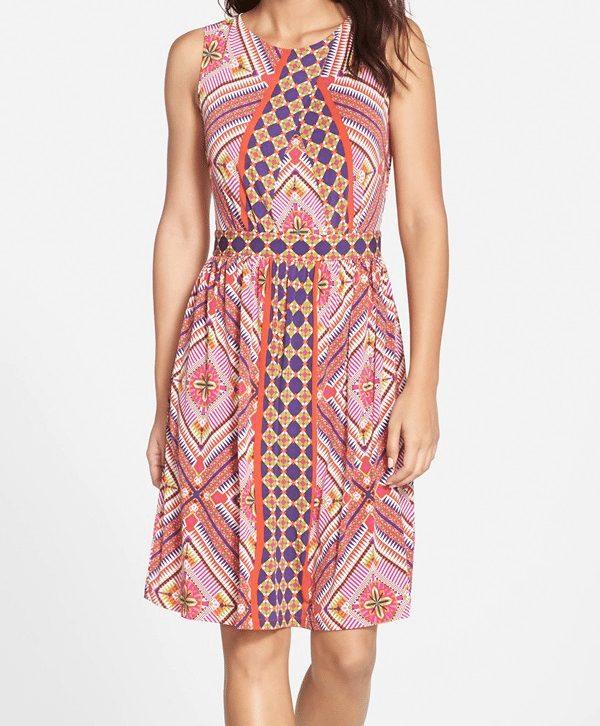 Gabby Skye Graphic Print Dress $58.80