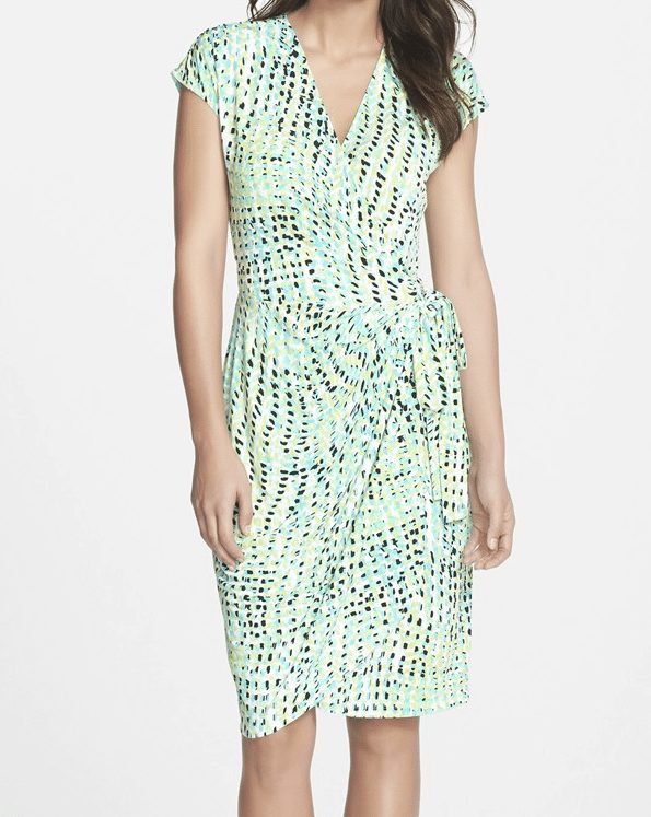 Maggy London Print Jersey Wrap Dress $58.80