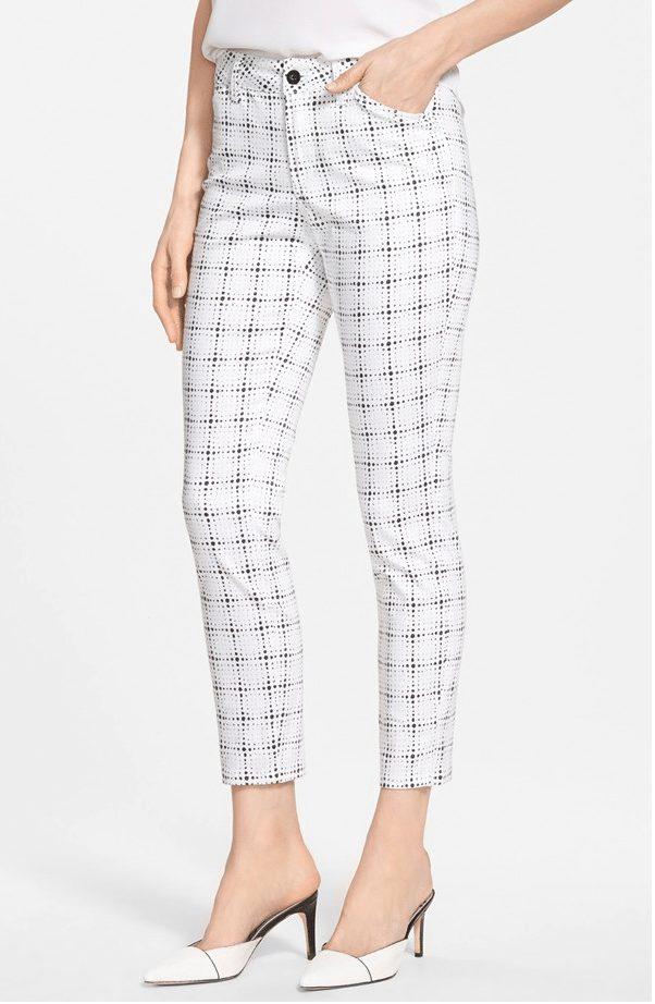 NYDJ Clarissa Print Stretch Ankle Skinny Jeans