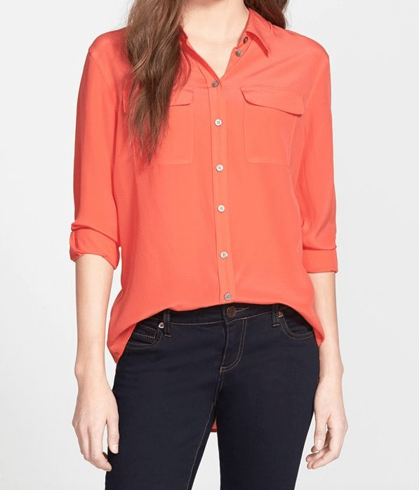 Two by Vince Camuto Silk Blouse