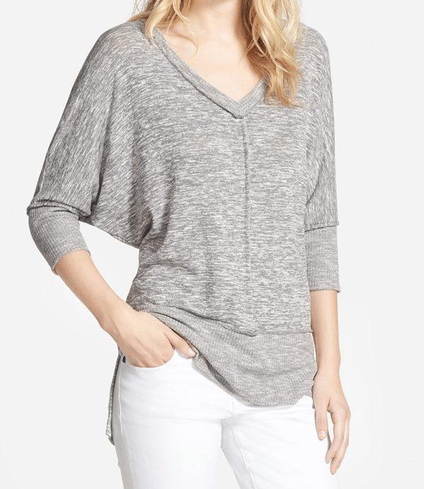 Summer Fashion - Bobeau Dolman Sleeve V-Neck Pullover