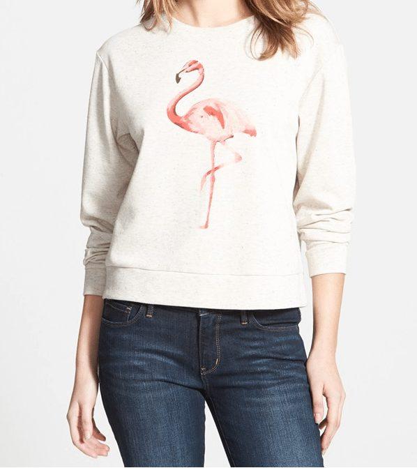 Summer Fashion - Flamingo French Terry Sweatshirt