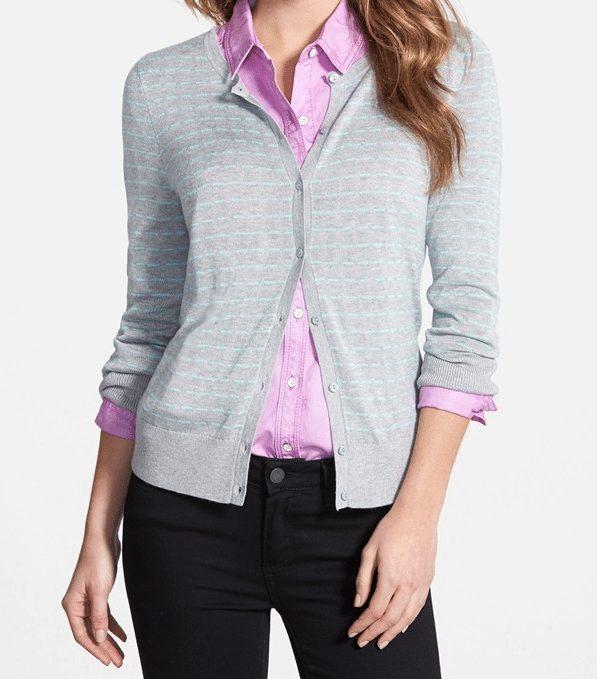 grey-aqua cardigan