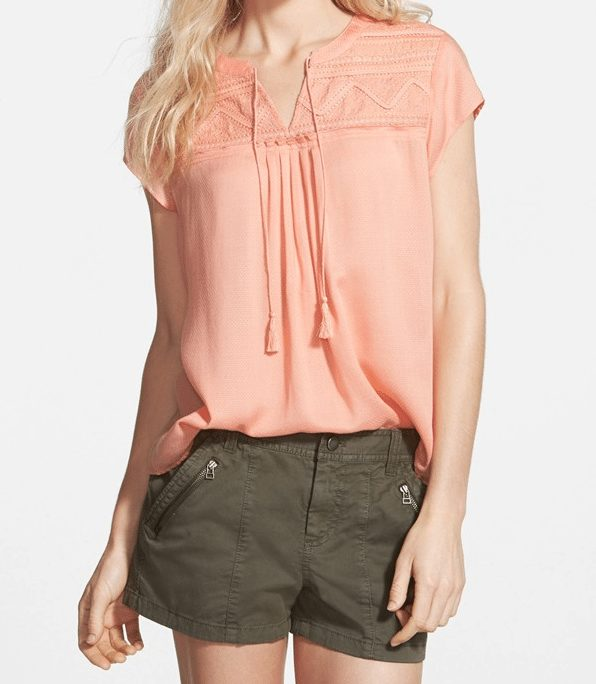 Summer Fashion - Hinge Embroidered Yoke Top