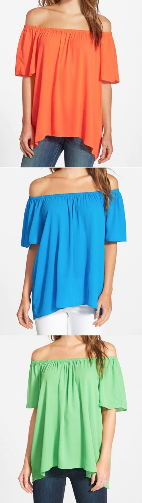Summer Fashion - Vince Camuto Off-Shoulder High/Low Blouse